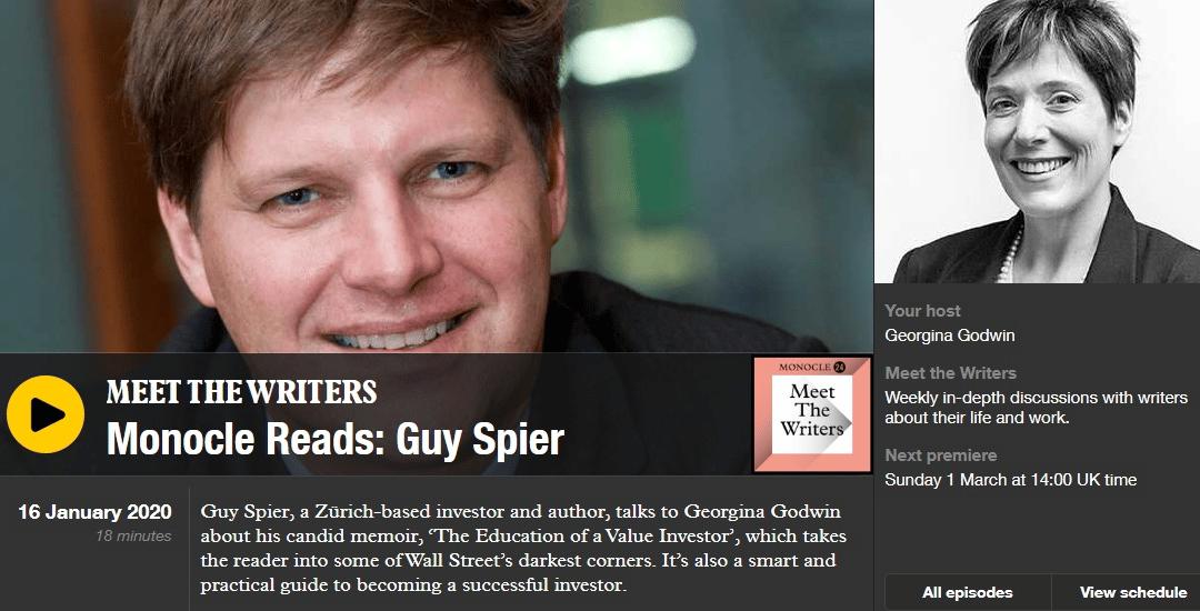 """Meet the Writers"" on Monocle Radio with Georgina Godwin"